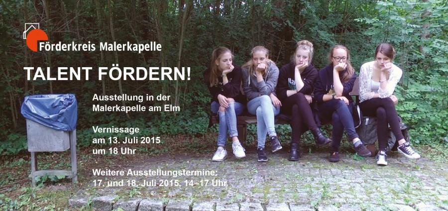 """Bilder von der Ausstellungseröffnung """"Talent fördern!"""" 2015"""